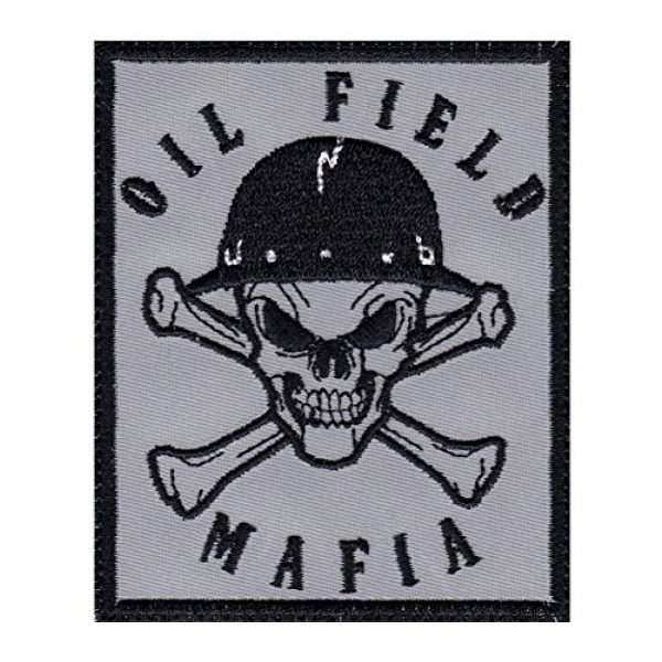Tactical Patch Works Airsoft Morale Patch 1 Oil Field Mafia Skull & Cross Bones Oil Rig Roughneck Patch