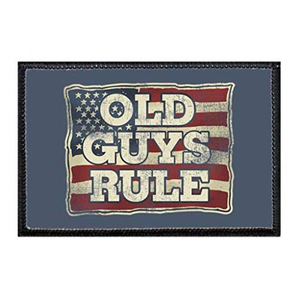 P PULLPATCH Airsoft Morale Patch 1 Old Guys Rule - A Life Well Served Morale Patch | Hook and Loop Attach for Hats, Jeans, Vest, Coat | 2x3 in | by Pull Patch