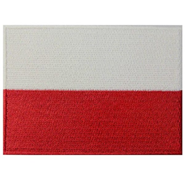 EmbTao Airsoft Morale Patch 1 Poland Flag Embroidered Emblem Polish Iron On Sew On Polska National Patch
