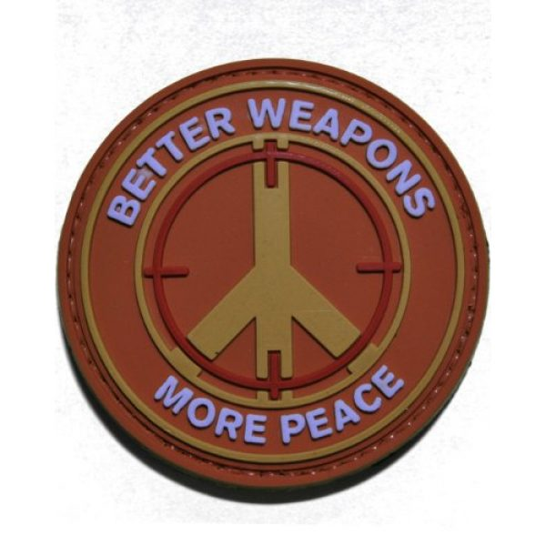 Tactical Morale Gear Airsoft Morale Patch 1 Better Weapons More Peace PVC Velcro Morale Patch