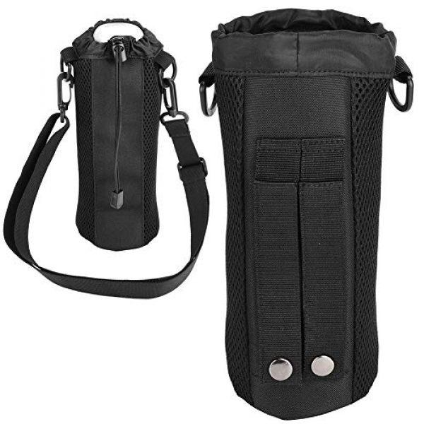 Alomejor Tactical Pouch 2 Alomejor Water Bottle Pouch Sport Water Bottle Kettle Bag with Adjustable Shoulder Strap for Camping Hiking Running