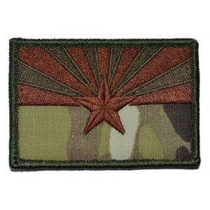 Tactical Gear Junkie Airsoft Morale Patch 1 Arizona State Flag 2x3 Patch - Multiple Colors (Multicam)