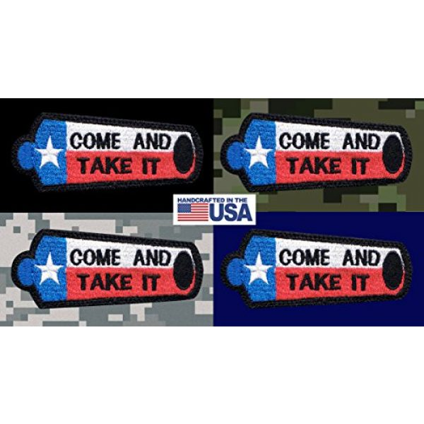 Tactical Patch Works Airsoft Morale Patch 3 Texas Come And Take It Canon Flag Patch