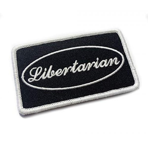 """Empire Tactical USA Airsoft Morale Patch 1 Libertarian 3.5"""" x 2"""" Embroidered Morale Patch (Hook Loop Back)"""