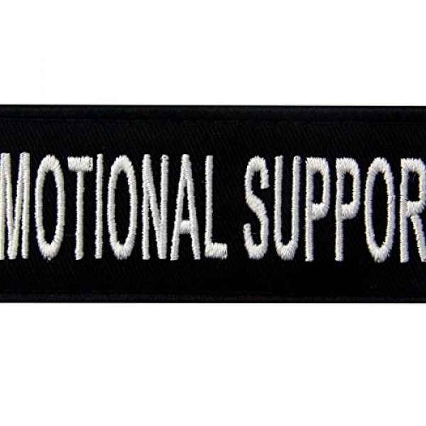 EmbTao Airsoft Morale Patch 2 Emotional Support Service Animal Vests/Harnesses Emblem Embroidered Fastener Hook & Loop Patch, 4 X 1.5 Inch