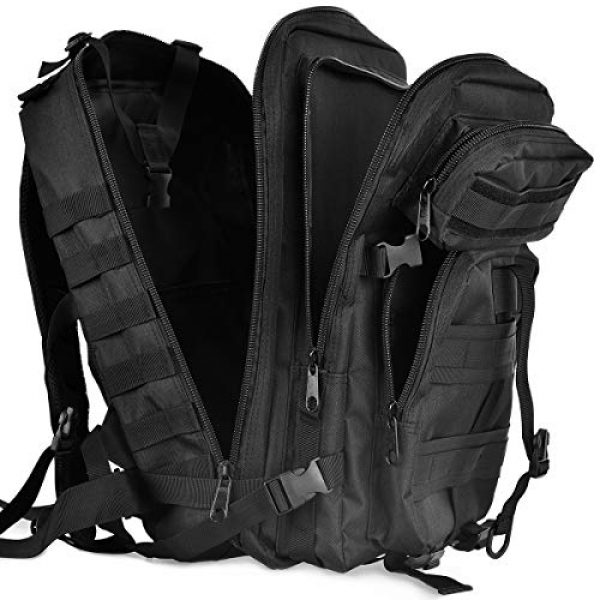 ATBP Tactical Pouch 7 ATBP Military Tactical Molle Rucksack Backpack 40L Hunting Travel Hiking Daypack Backpacking Packs Army College Bookbag (Jungle Digital +D)