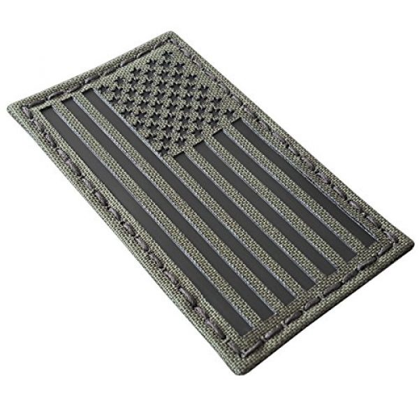 Tactical Freaky Airsoft Morale Patch 2 Olive Drab Green OD Infrared IR USA American Flag 3.5x2 IFF Tactical Morale Hook-and-Loop Patch
