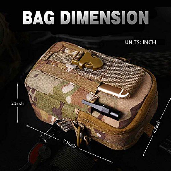 ANTARCTICA Tactical Pouch 2 ANTARCTICA 1050D Tactical Molle EDC Pouch Waist Bag Cell Phone Holster Holder Outdoor Hip Waist Belt Bag Wallet Purse