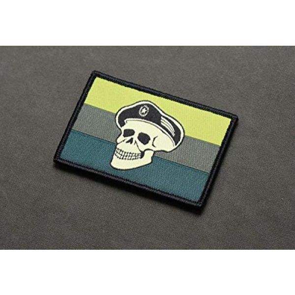 BritKitUSA Airsoft Morale Patch 1 BritKitUSA Subdued Spetsnaz Skull Russian Flag Morale Patch Rushing Russians Milsim West