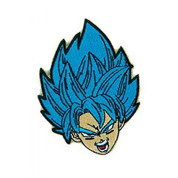 Embroidery Patch Airsoft Morale Patch 2 Dragon Ball Z Goku Super Saiyan Military Hook Loop Tactics Morale Embroidered Patch