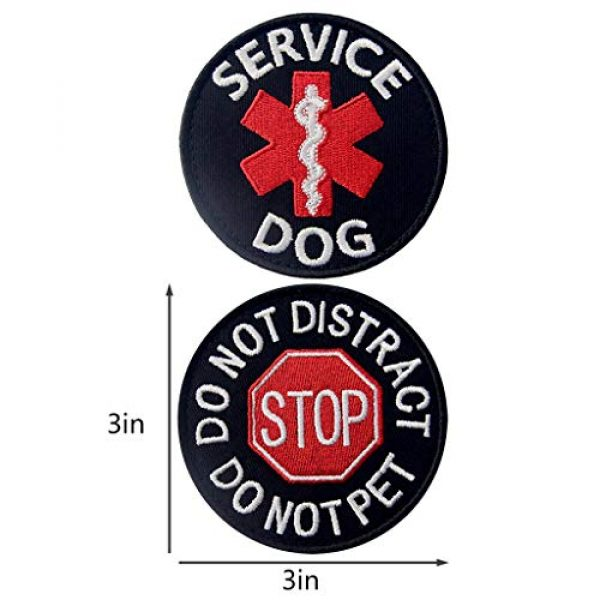 TailWag Planet Airsoft Morale Patch 2 Service Dog EMS Working Do Not Pet Distract Handler Bite Therapy Medic Paramedic Star Vest/Harnesses Tactical Morale Patch Embroidered Badge Fastener Hook & Loop Emblem, 6 Pcs
