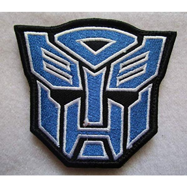 Embroidered Patch Airsoft Morale Patch 1 Transformers Autobot Movie Film 3D Tactical Patch Military Embroidered Morale Tags Badge Embroidered Patch DIY Applique Shoulder Patch Embroidery Gift Patch