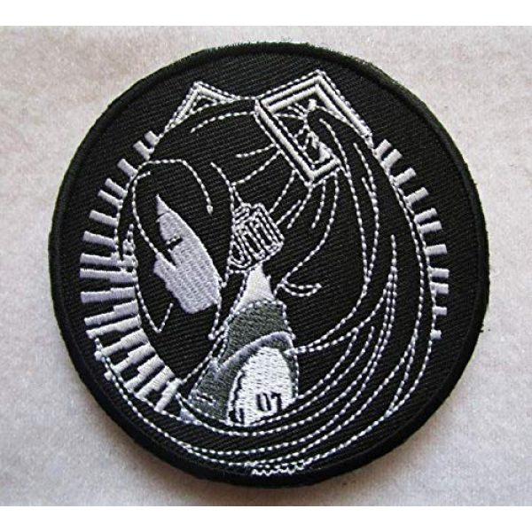 Embroidered Patch Airsoft Morale Patch 1 Hatsune Miku 3D Tactical Patch Military Embroidered Morale Tags Badge Embroidered Patch DIY Applique Shoulder Patch Embroidery Gift Patch