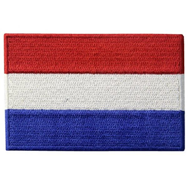 EmbTao Airsoft Morale Patch 1 The Netherlands Flag Embroidered Holland National Emblem Dutch Iron On Sew On Patch