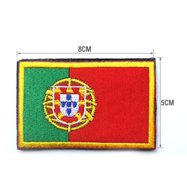 Tactical Embroidery Patch Airsoft Morale Patch 2 2pcs Portugal Flag Embroidery Patch Military Tactical Morale Patch Badges Emblem Applique Hook Patches for Clothes Backpack Accessories