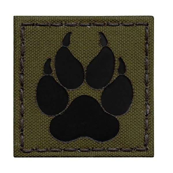 Tactical Freaky Airsoft Morale Patch 1 Olive Drab OD Green Infrared IR K9 Dog Handler Paw K-9 2x2 Tactical Morale Fastener Patch