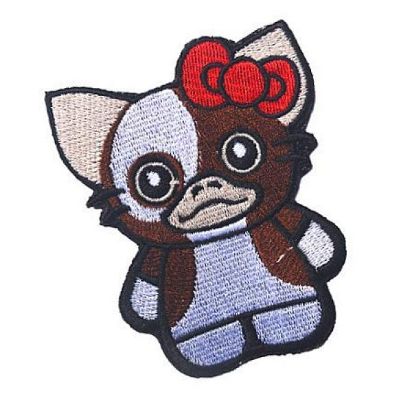 Embroidery Patch Airsoft Morale Patch 2 Warrior Hello Kitty Military Hook Loop Tactics Morale Embroidered Patch