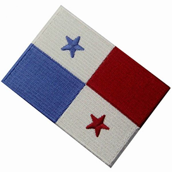 EmbTao Airsoft Morale Patch 4 Panama Flag Embroidered Emblem Panamanian Iron On Sew On National Patch