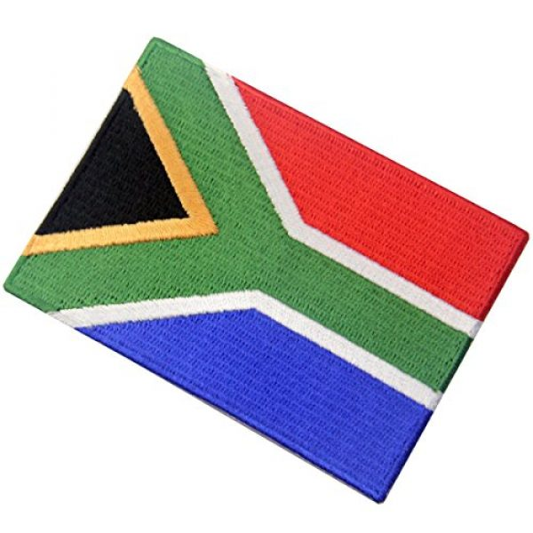 EmbTao Airsoft Morale Patch 4 South Africa Flag Embroidered African Emblem Iron On Sew On National Patch