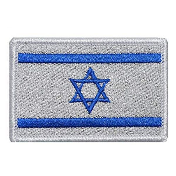 Tactical Embroidery Patch Airsoft Morale Patch 1 Israel Flag Embroidery Patch Military Tactical Morale Patch Badges Emblem Applique Hook Patches for Clothes Backpack Accessories