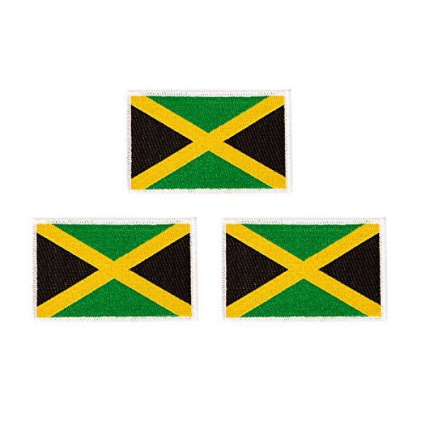 Desert Cactus Airsoft Morale Patch 1 Jamaica Flag Patch Bulk 3.5 inch x 2.25 inch State Iron On Sew Embroidered Tactical Backpack Hat Bags Jamaican (3-Pack Patch)