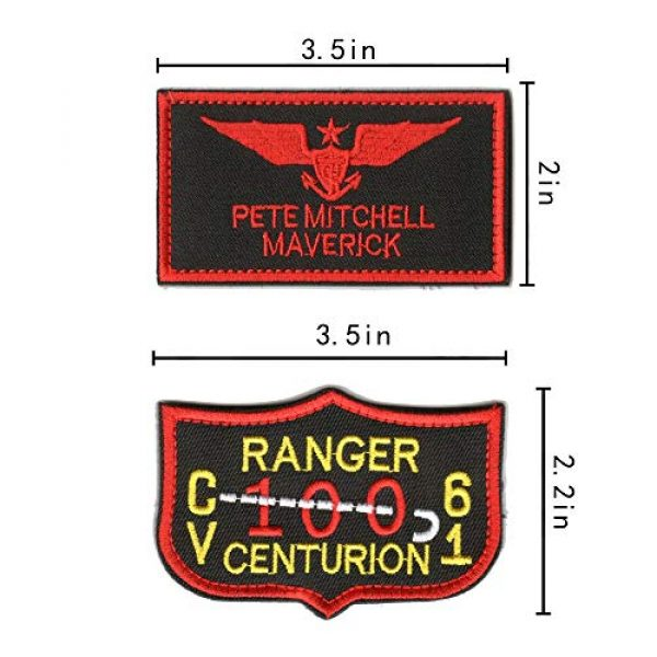 WZT Airsoft Morale Patch 4 WZT 11 Pieces TOP Gun Tactical Morale Military Patch United States Navy Fighter Weapons School, American Flag, CV-61 USS Ranger 100 Centurion, Tom Cat, Pete Mitchell Maverick, VX-31, VF-1 Embroidered