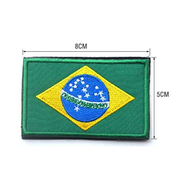 Tactical Embroidery Patch Airsoft Morale Patch 2 2pcs Brazil Flag Embroidery Patch Military Tactical Morale Patch Badges Emblem Applique Hook Patches for Clothes Backpack Accessories