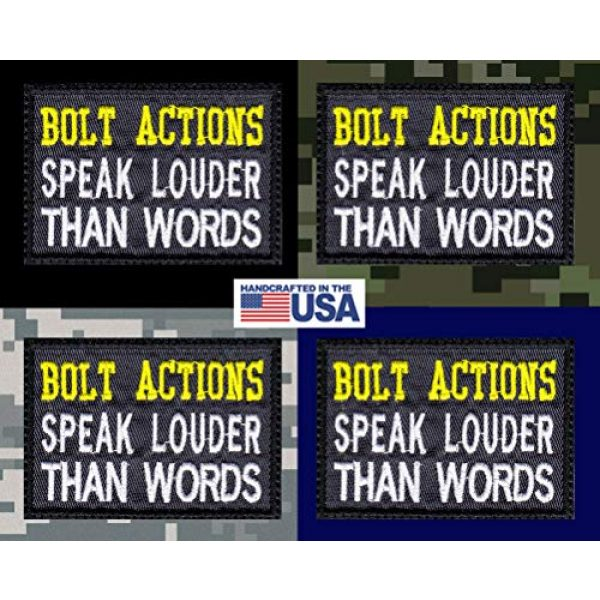 Tactical Patch Works Airsoft Morale Patch 3 Bolt Actions Speak Louder Than Words Patch