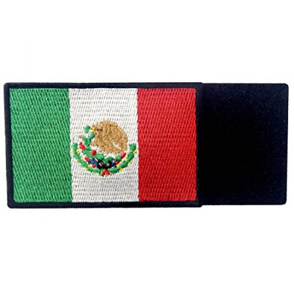 EmbTao Airsoft Morale Patch 3 EmbTao Patches Mexico Flag Embroidered Mexican Applique Hook & Loop National Emblem