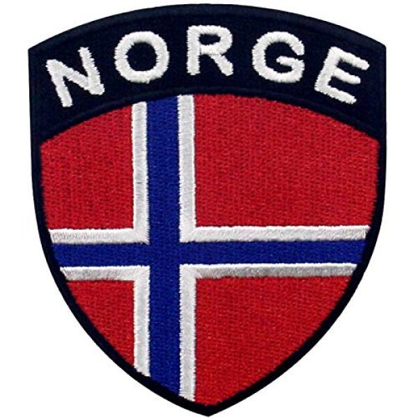 EmbTao Airsoft Morale Patch 1 EmbTao Norway Shield Flag Patch Embroidered Applique Iron On Sew On Norwegian National Emblem