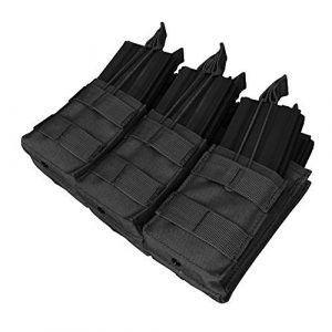 Condor Tactical Pouch 1 Condor Tactical MOLLE Triple Stacker Tactical M4 Mag Pouch - Black