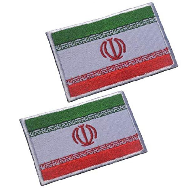 Tactical Embroidery Patch Airsoft Morale Patch 1 2pcs Iran Flag Embroidery Patch Military Tactical Morale Patch Badges Emblem Applique Hook Patches for Clothes Backpack Accessories