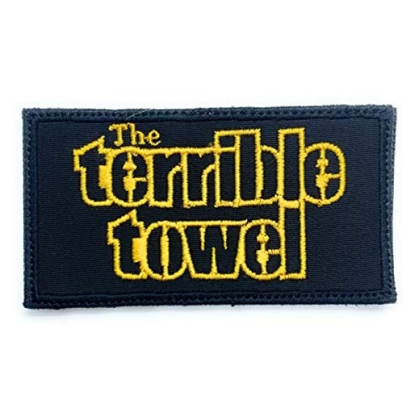 Almost SGT Airsoft Morale Patch 1 Steelers The Terrible Towel Logo - Funny Tactical Military Morale Embroidered Patch Hook Backing