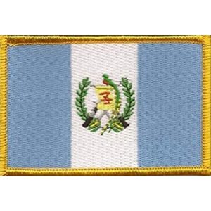 """World Flags Direct Airsoft Morale Patch 1 International Country Flag Patch 3.50"""" x 2.25"""", One Embroidered Iron or Sew On Flag Emblem; Over 100 Tactical Morale Patch Options Available (Guatemala)"""