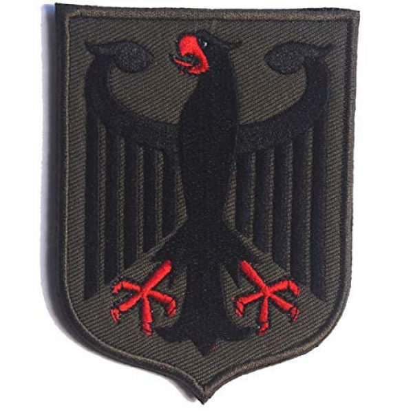 Embroidered Patch Airsoft Morale Patch 1 Germany Coat of Arms German Eagle Shield 3D Tactical Patch Military Embroidered Morale Tags Badge Embroidered Patch DIY Applique Shoulder Patch Embroidery Gift Patch