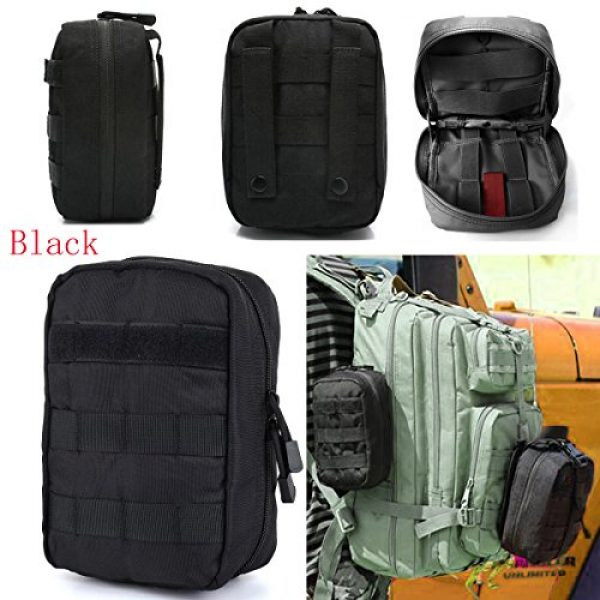 AOCKS Tactical Pouch 6 AOCKS Tactical MOLLE EMT Medical First Aid IFAK Blowout Utility Pouch Belt Waist Bag with Cell Phone Holster Holder