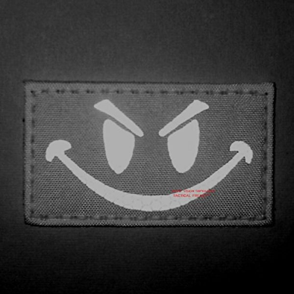 Tactical Freaky Airsoft Morale Patch 2 Coyte Brown Infrared Evil Smiley 3.5x2 Tan Arid Tactical Morale Hook-and-Loop Patch