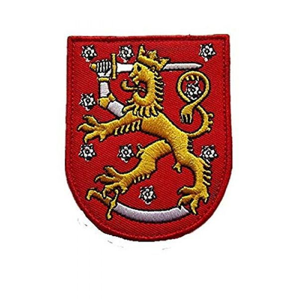 Embroidery Patch Airsoft Morale Patch 1 Finland Suomi Coat of Arms Military Hook Loop Tactics Morale Embroidered Patch