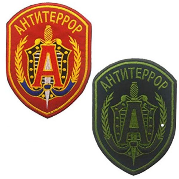 Embroidered Patch Airsoft Morale Patch 1 2pc Russian FSB Spetsnaz Alpha 3D Tactical Patch Military Embroidered Morale Tags Badge Embroidered Patch DIY Applique Shoulder Patch Embroidery Gift Patch