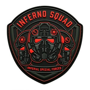 Miltacusa Airsoft Morale Patch 1 Inferno Squad Imperial Special Forces Shield Patch (3D-PVC Rubber-MIN11)