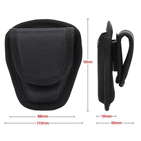 abcGoodefg Tactical Pouch 5 abcGoodefg Open Top Cuff Case Quick Release Cuff Holder Law Enforcement Nylon Handcuff Holder for Duty Belt Cuff Pouch with Belt Loop