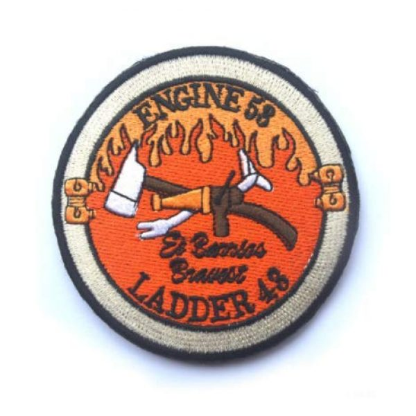 Tactical Embroidery Patch Airsoft Morale Patch 1 Navy Seal Operation Red Wing Murphy Engine 53 Ladder 43 Firefighter Embroidery Patch Military Tactical Morale Patch Badges Emblem Applique Hook Patches for Clothes Backpack Accessories