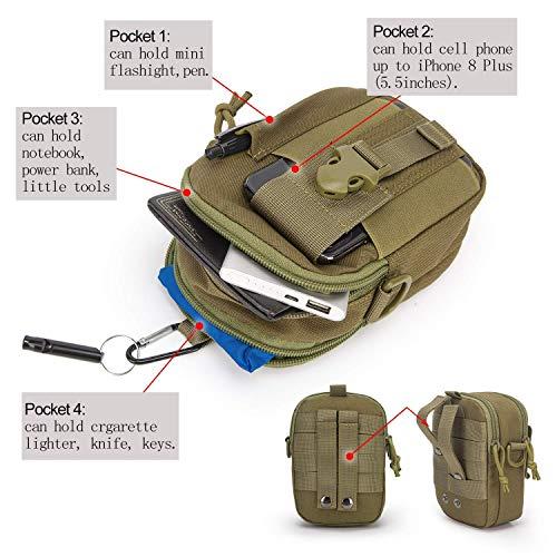 Mardingtop Tactical Backpack 5 Mardingtop Bundle Items: 25L Molle Hiking Tactical Backpack Khaki