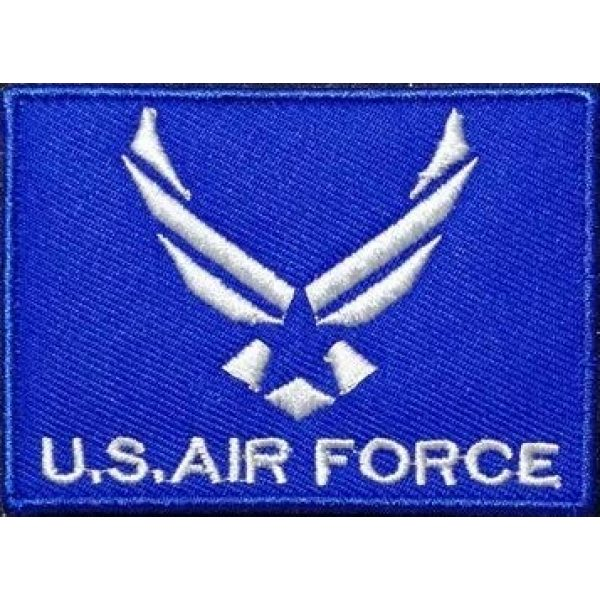 Tactical Embroidery Patch Airsoft Morale Patch 1 Air Force Embroidery Patch Military Tactical Morale Patch Badges Emblem Applique Hook Patches for Clothes Backpack Accessories