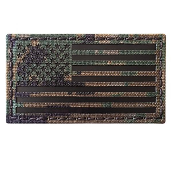 Tactical Freaky Airsoft Morale Patch 6 MARPAT Digital Woodland Infrared IR USA American Flag 3.5x2 IFF Tactical Morale Fastener Patch