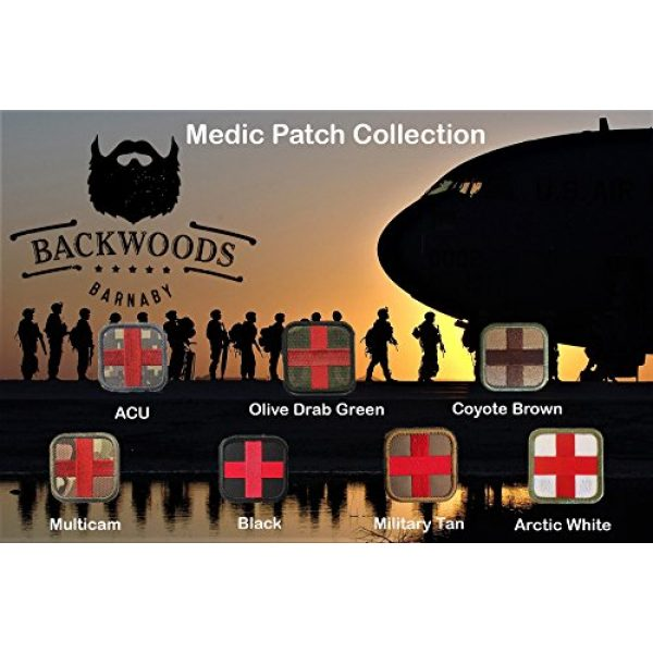 Backwoods Barnaby Airsoft Morale Patch 2 Backwoods Barnaby Medic Cross Morale Tactical Patch with Hook