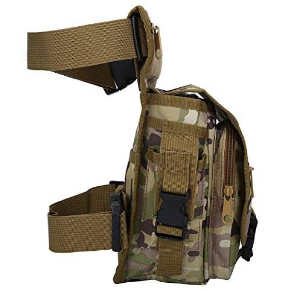 VGEBY Tactical Pouch 7 VGEBY Hunting Leg Pouch, Camouflage Drop Leg Thigh Packs Tactical Waist Pouch Satchel for Motorcycle Hunting Riding