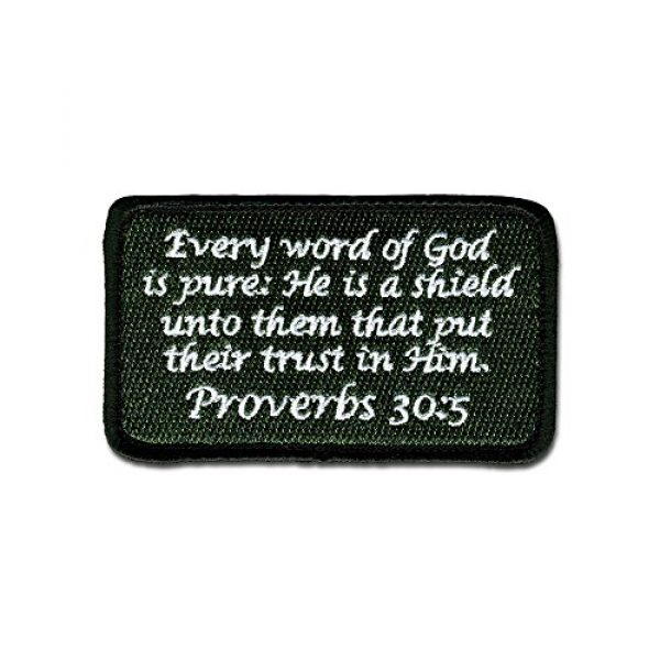 BASTION Airsoft Morale Patch 1 BASTION Morale Patches (Proverbs 30:5, ODG)   3D Embroidered Patches with Hook & Loop Fastener Backing   Well-Made Clean Stitching   Christian Patches Ideal for Tactical Bag, Hats & Vest