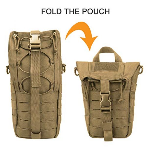 AMYIPO Tactical Pouch 5 AMYIPO Water Bottle Pouch Molle Tactical Holder Storage Bag