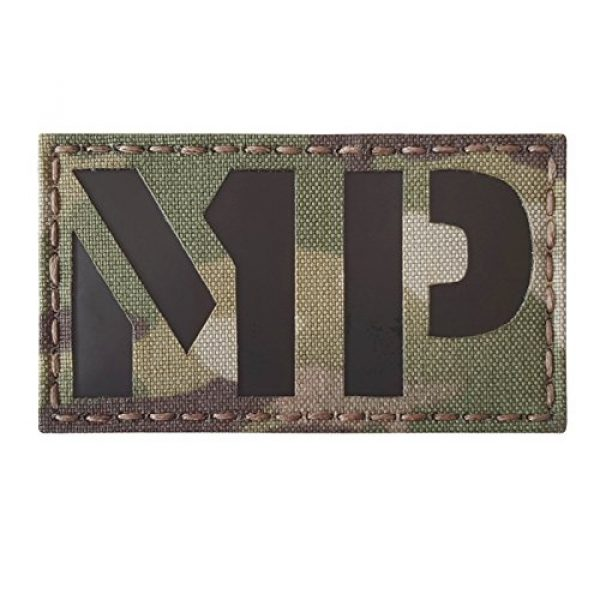 Tactical Freaky Airsoft Morale Patch 1 Multicam Infrared Military MP 3.5x2 Tactical Morale Hook-and-Loop Patch